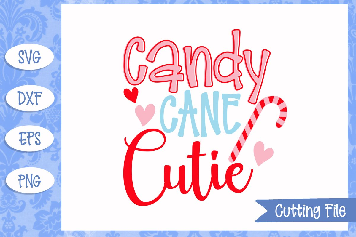 Candy Cane Cutie Christmas SVG File example image 1