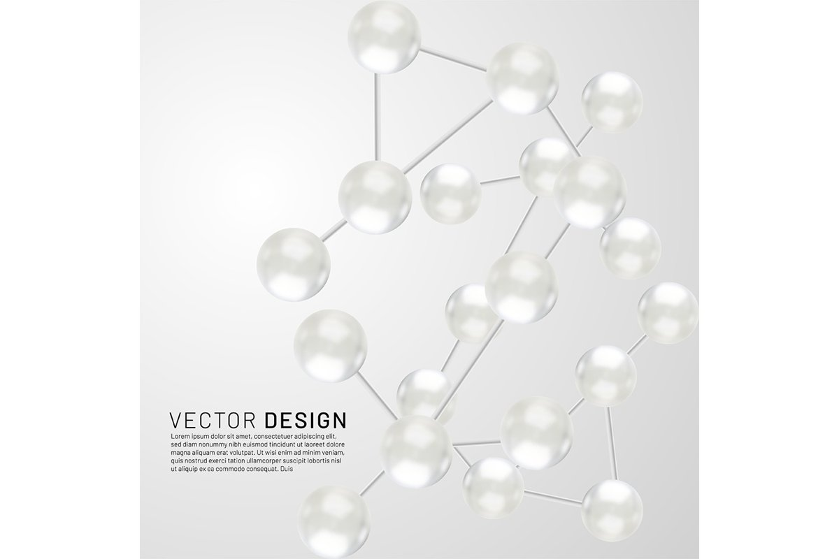 Abstract molecules design. Vector illustration example image 1
