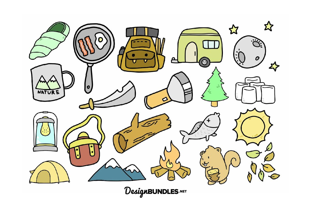 Camping illustrations example image 1