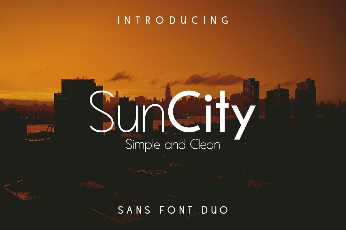 Sun City - Font Duo example image 1
