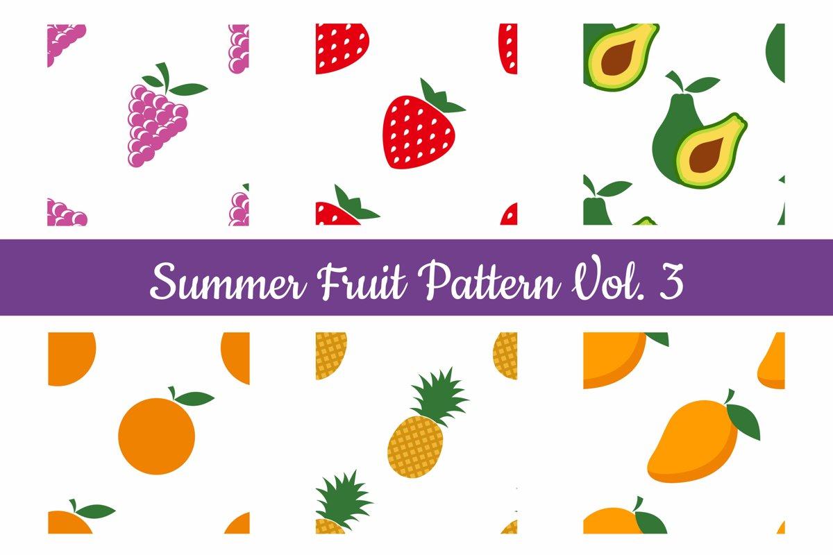 Summer Fruit Seamless Pattern Vol. 3 example image 1