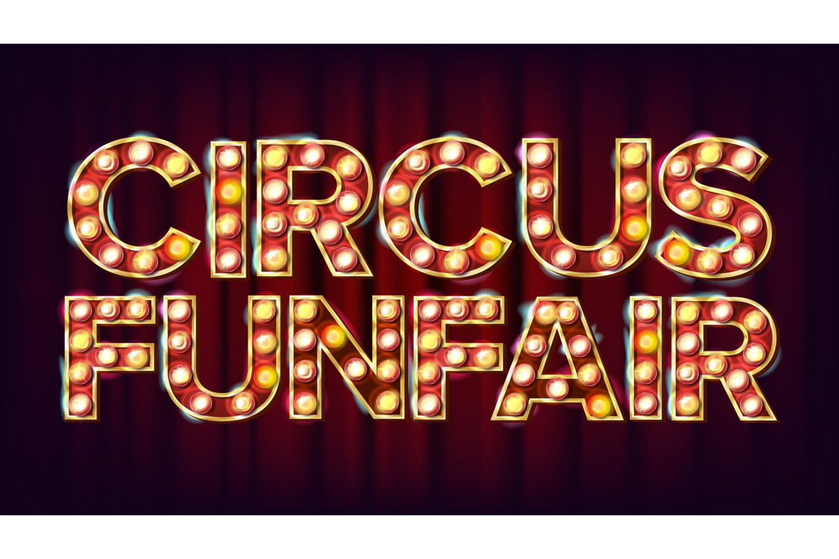 Circus Funfair Banner Sign Vector. For Party example image 1