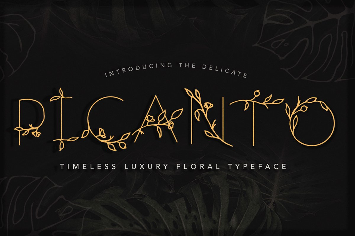 PICANTO - FLORAL FONT example image 1