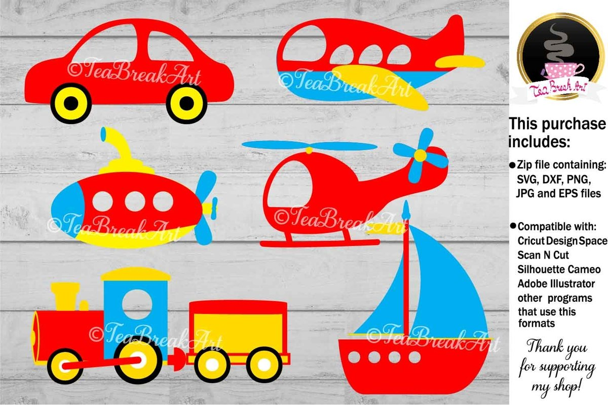 Transportation Cut File, svg cutting files 1185 example image 1