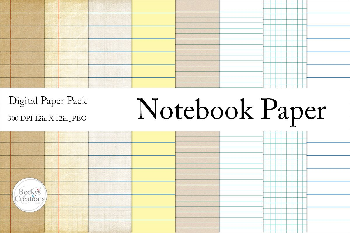 Notebook Paper Pack example image 1