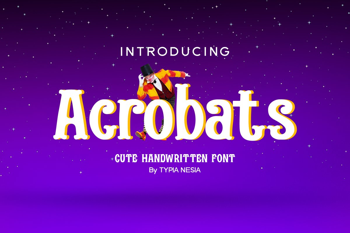 Acrobats - Circus Font example image 1