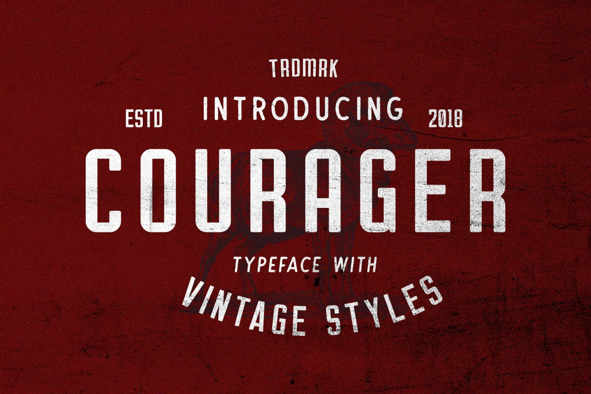 Courager Typeface (8 Fonts!) example image 1