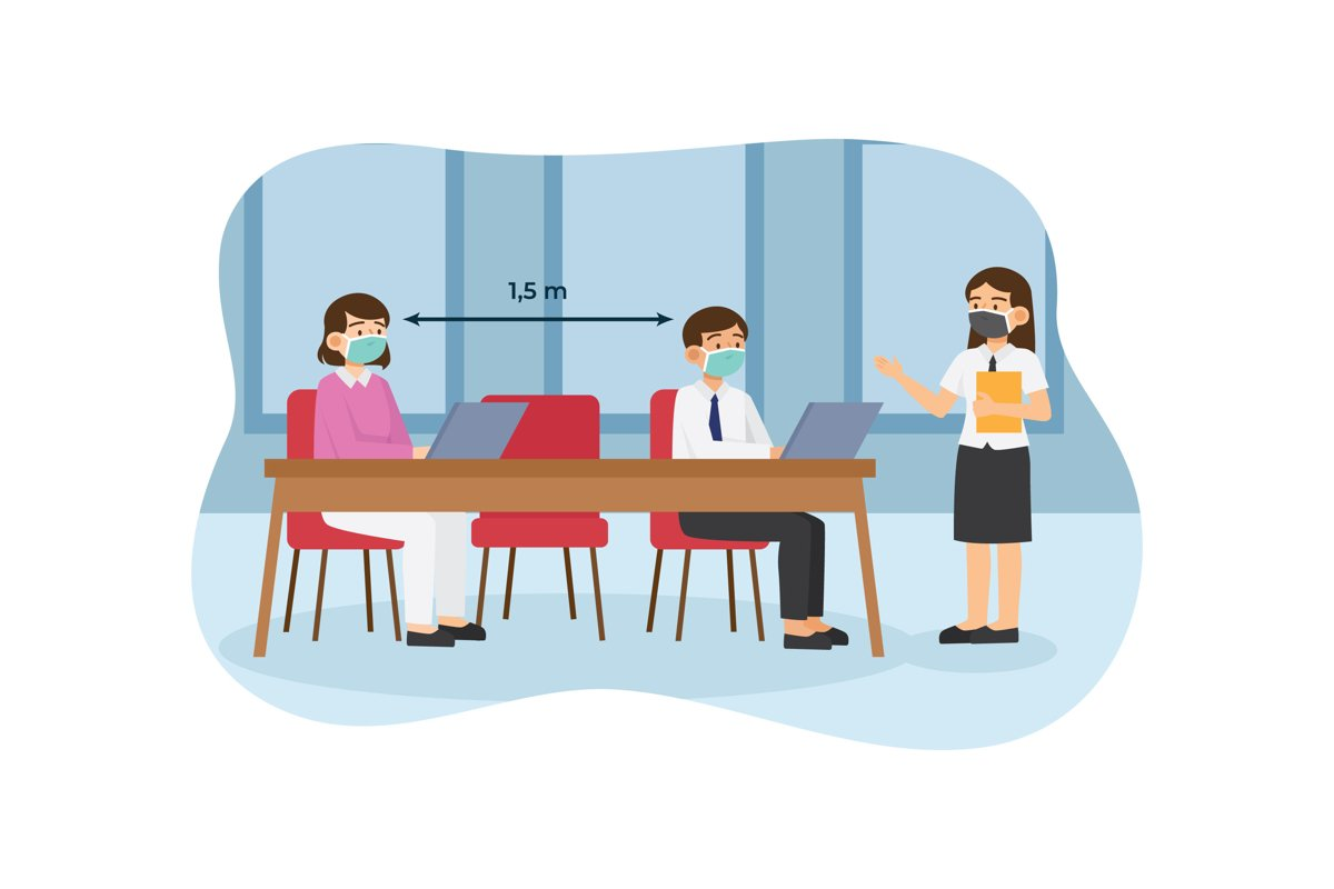 Social Distancing Illustrations example image 1