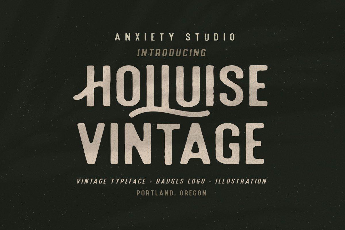Holluise Vintage Extra Badges Logo example image 1