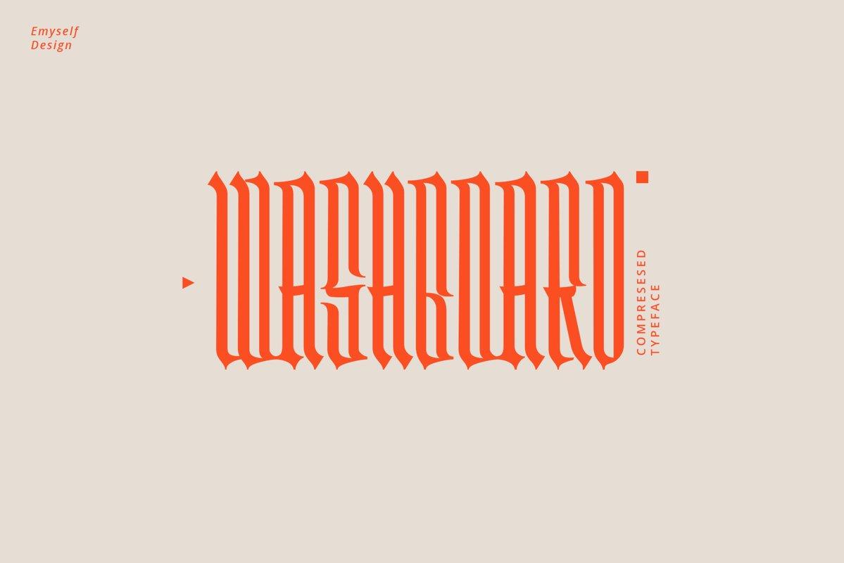 Washboard typeface example image 1