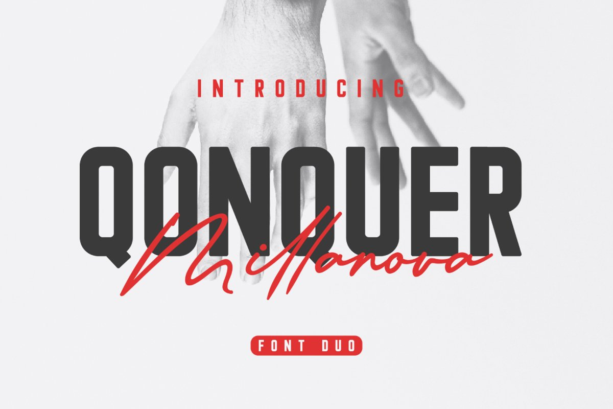Qonquer Millanova   Font Duo example image 1
