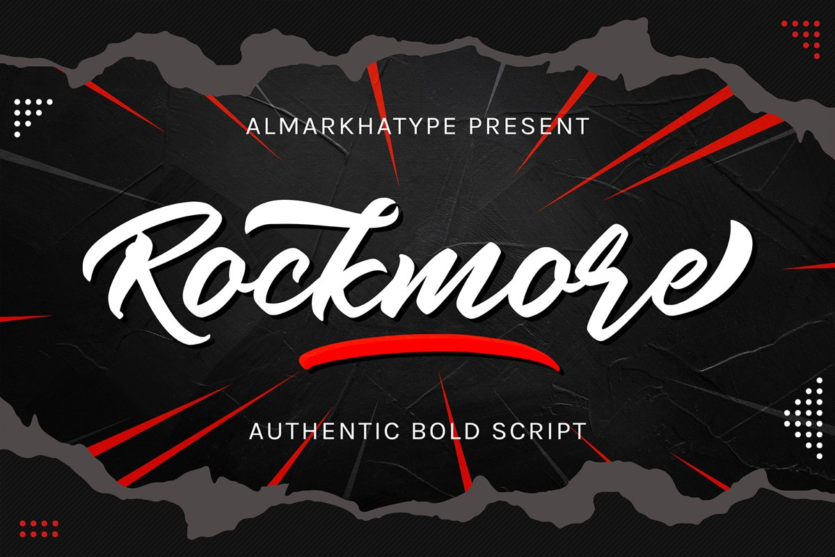 Rockmore - Authentic Bold Script example image 1