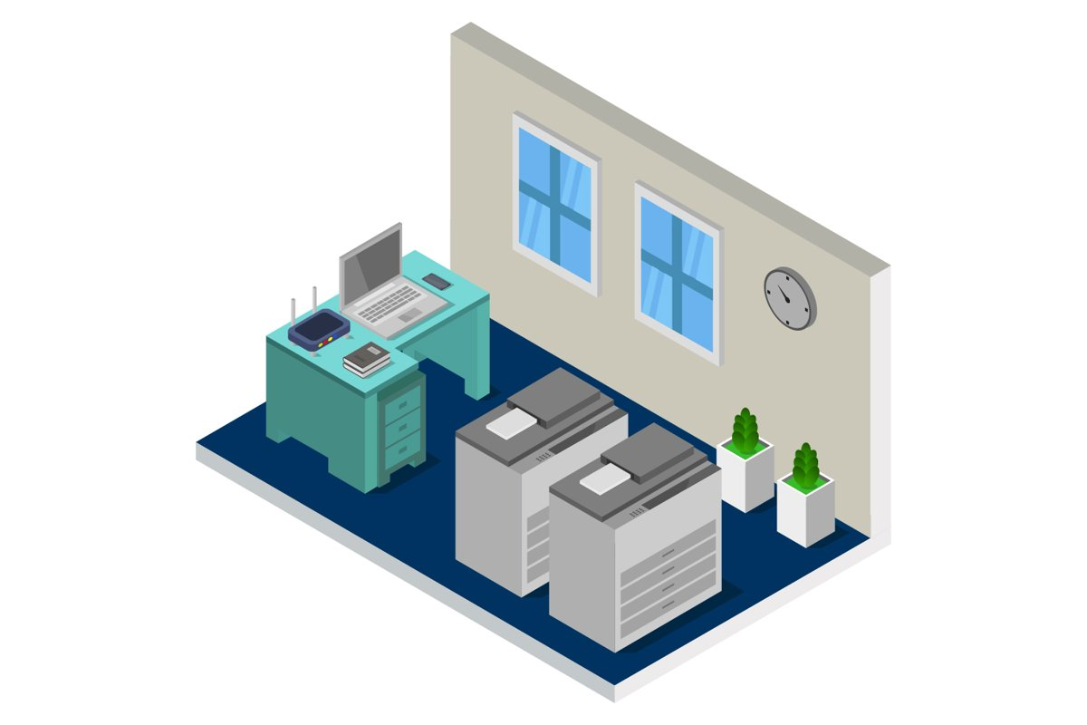 isometric office room example image 1