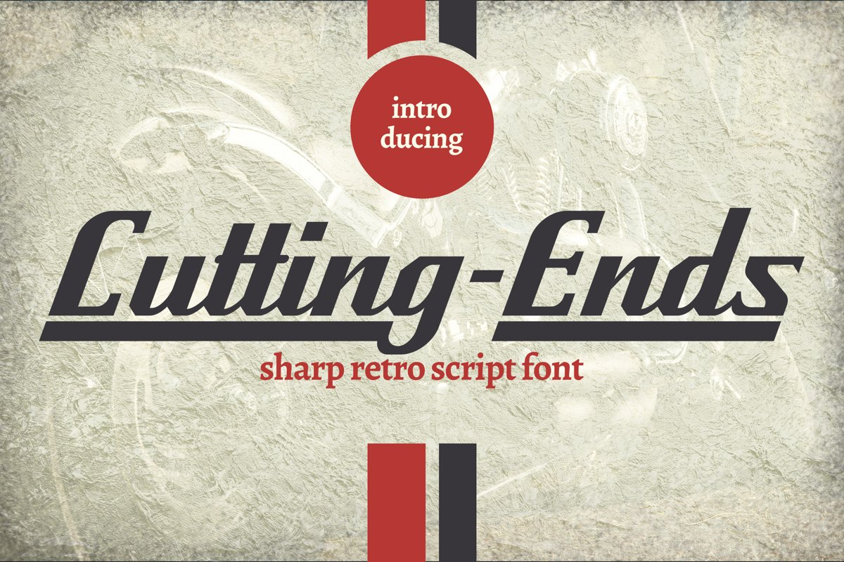 Cutting-Ends | Retro Script Font example image 1