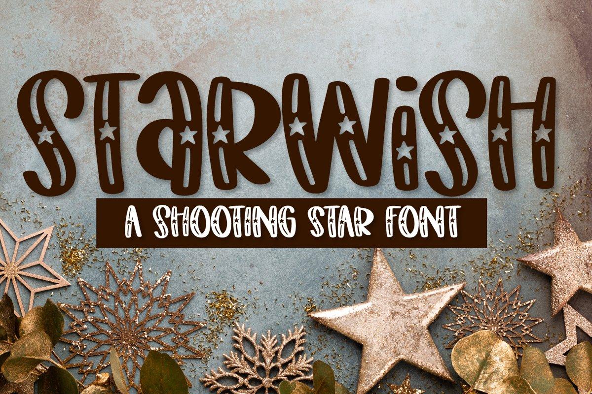 Starwish - A Shooting Star Font example image 1