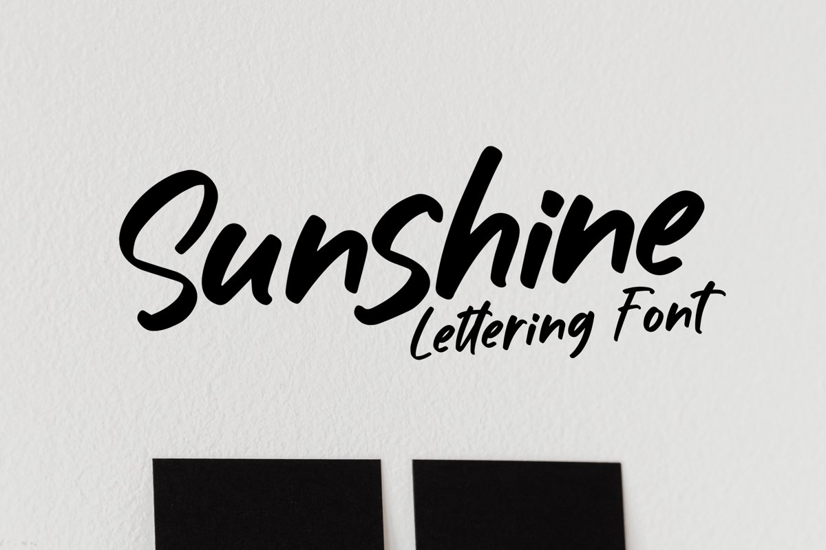 Sunshine - Lettering Font example image 1
