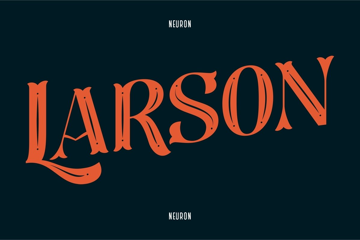 Larson Display Font example image 1