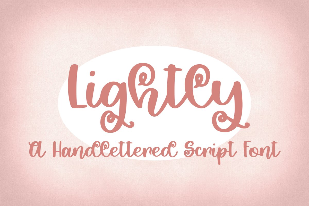 Lightly - A Hand-Lettered Script Font example image 1