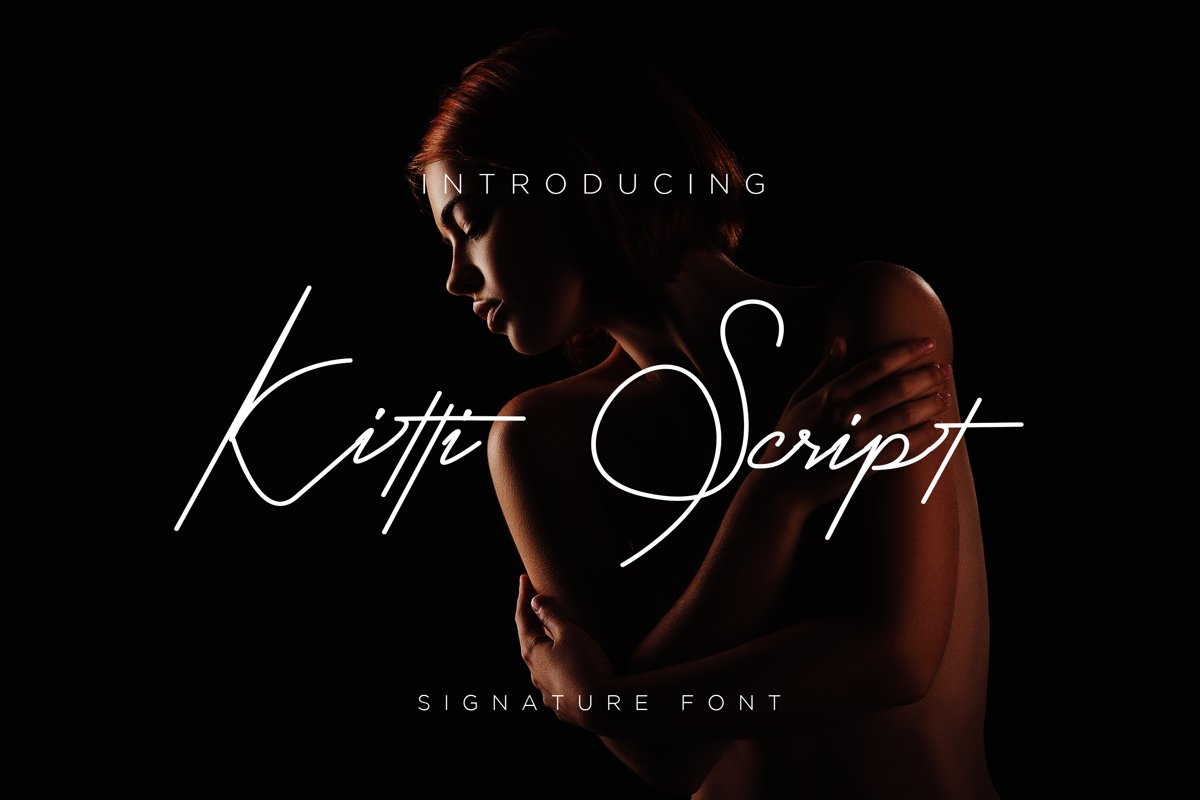 Kitti Font Script example image 1