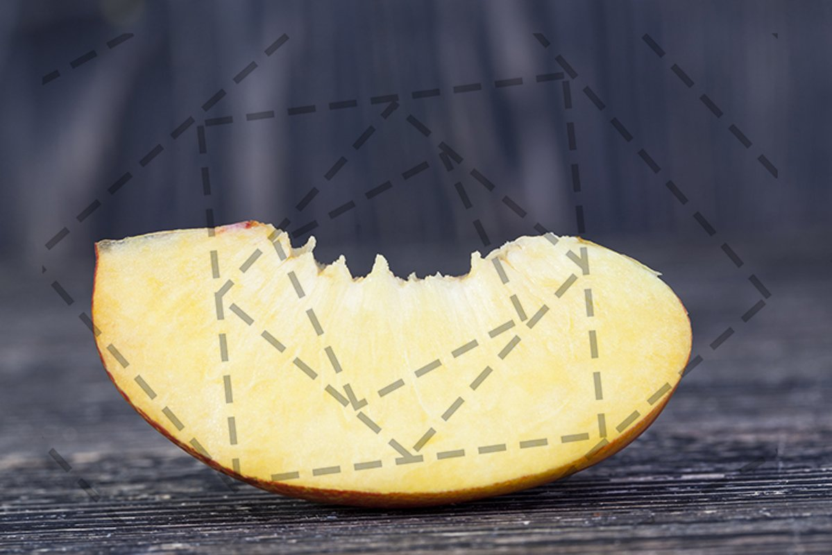one fresh slice of ripe peach example image 1