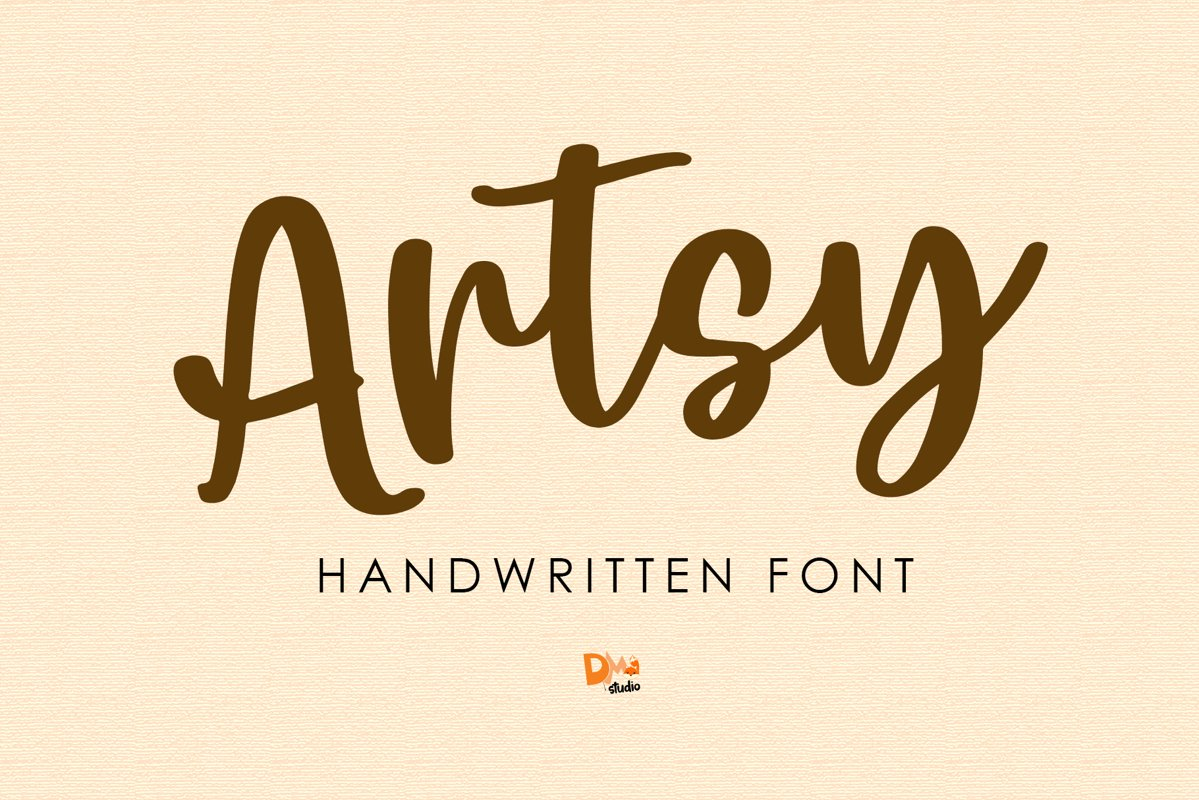 Artsy - Handwritten Font example image 1