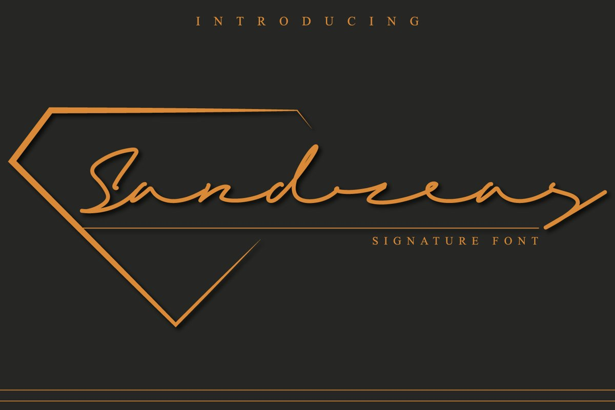 Sandreas - Luxury Signature Font example image 1