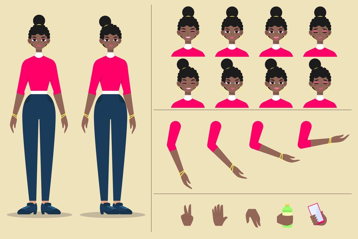 Cartoon Woman Template example image 1