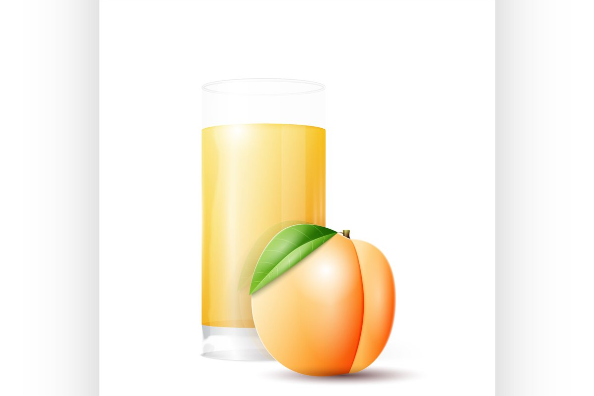 Apricot and glass of juice example image 1