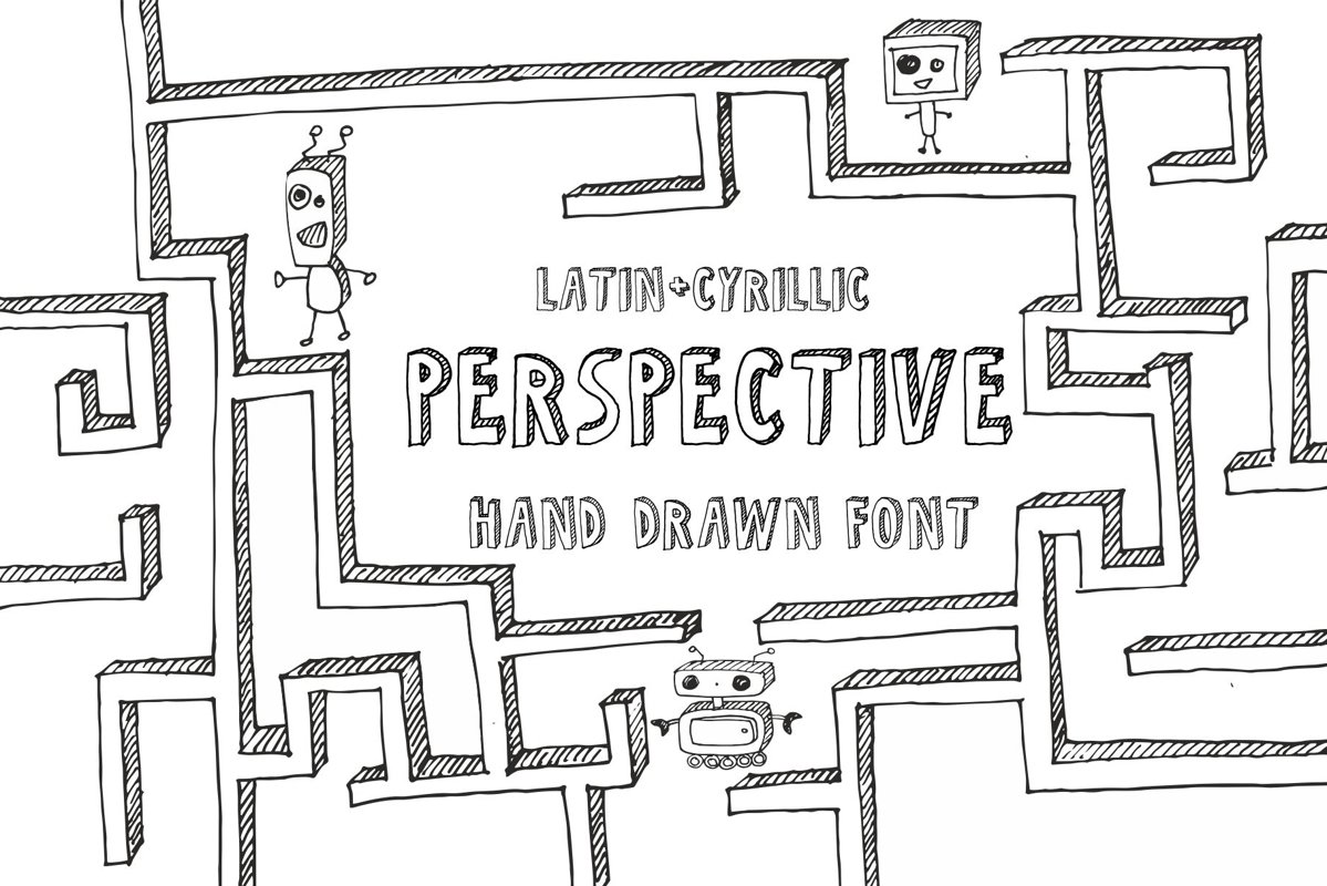 Perspective Font example image 1