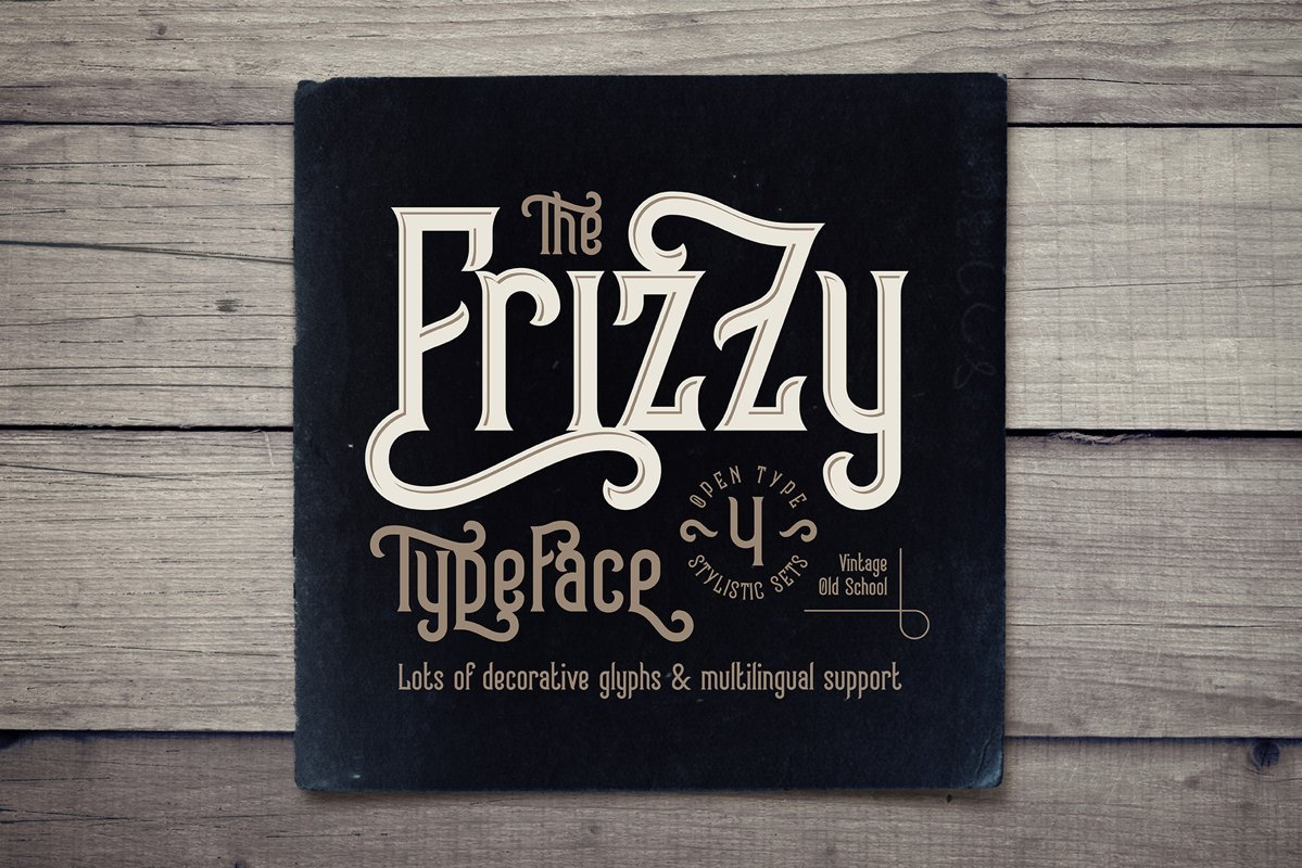 Frizzy vintage font example image 1