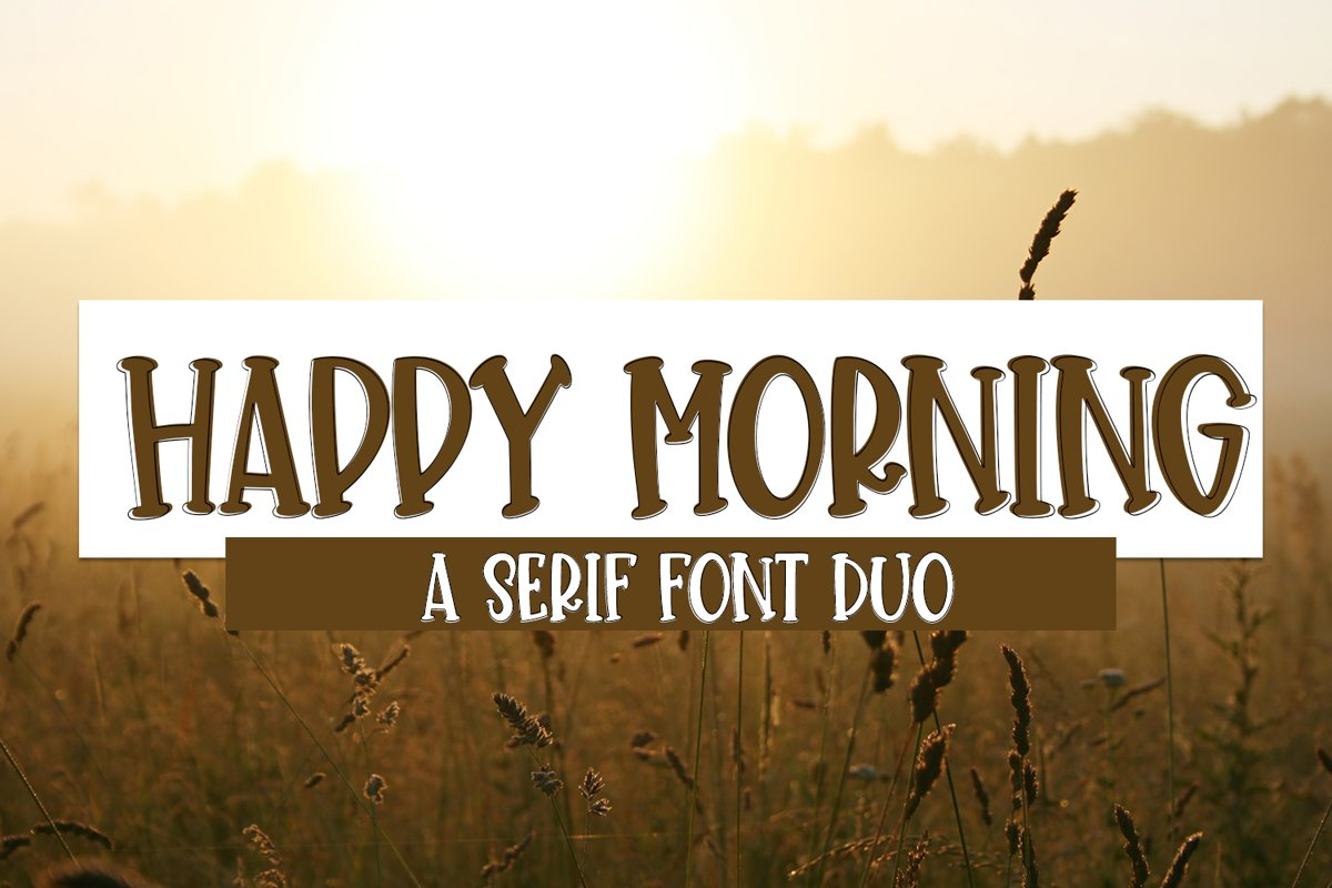Happy Morning - A Cute Hand-Lettered Font Duo example image 1