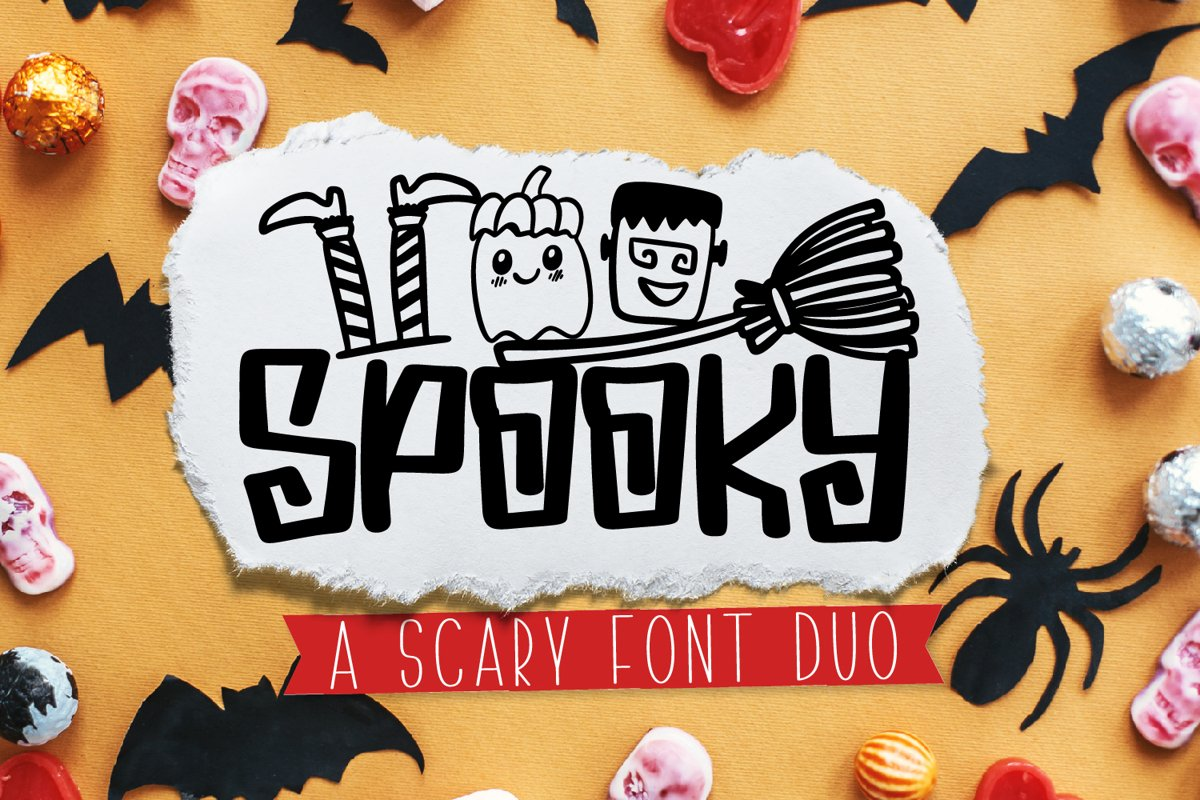 Spooky Dudes - A Scary Silly Halloween Font & Dingbat Duo! example image 1