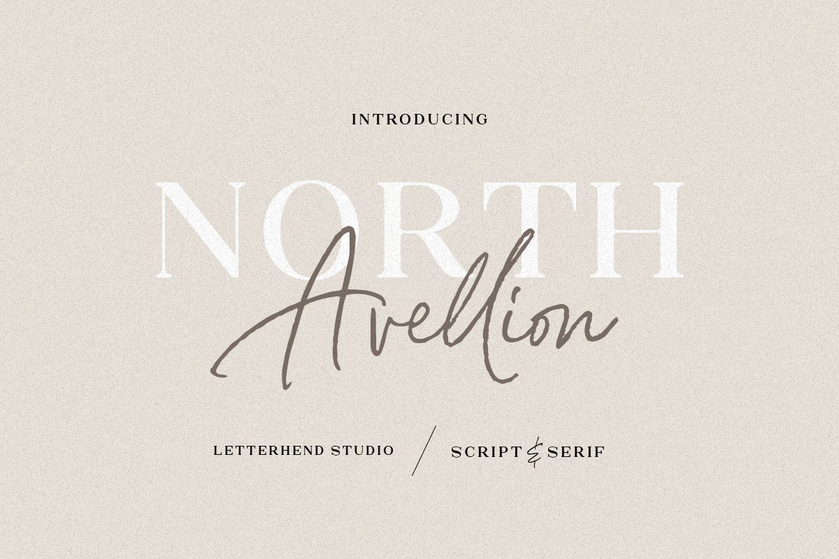 North Avellion - Script & Serif Duo example image 1