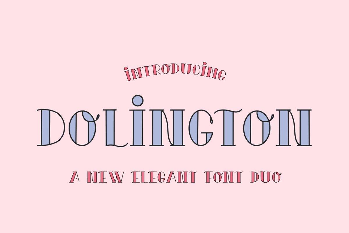 Dolington Font Duo example image 1