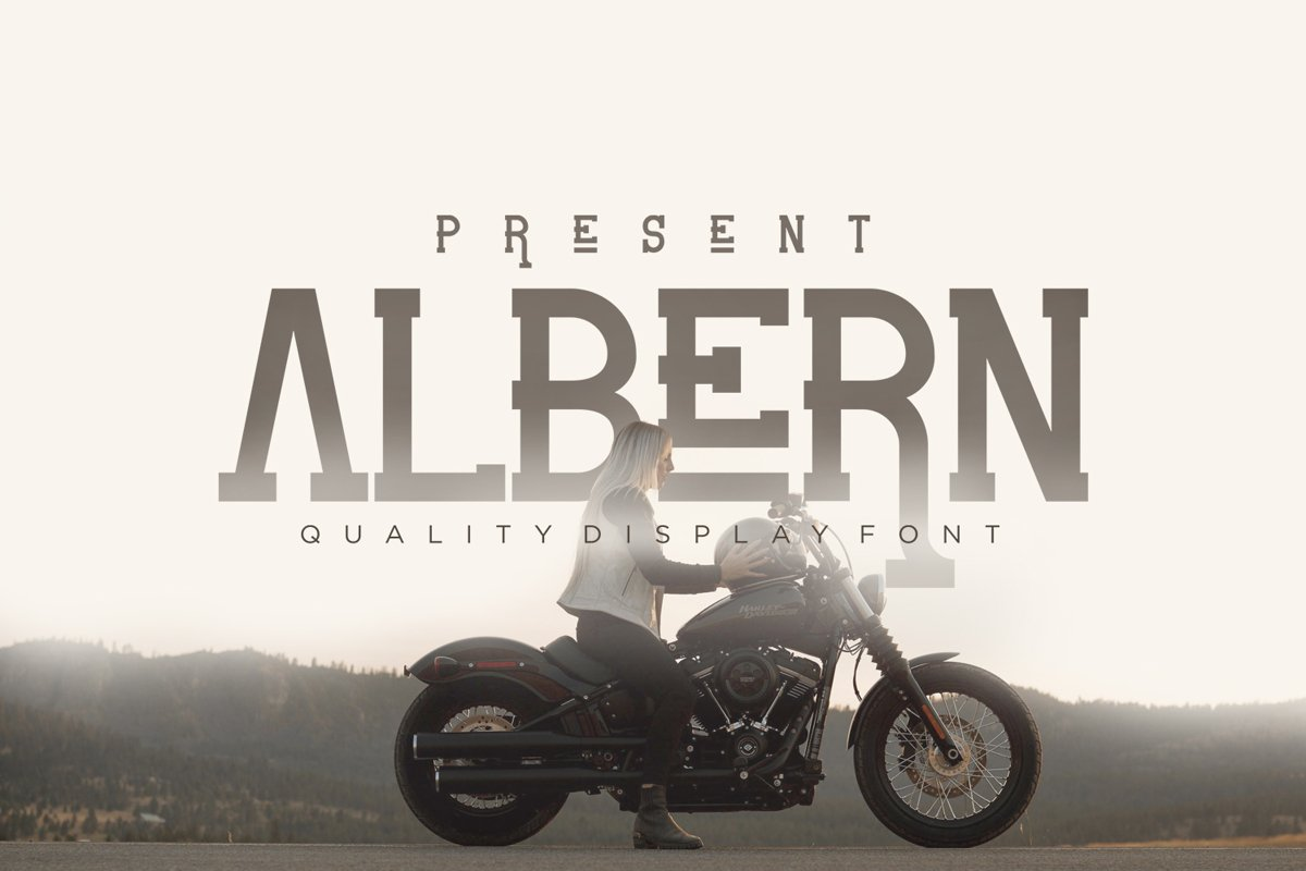 Albern - Slab Serif Display Font example image 1
