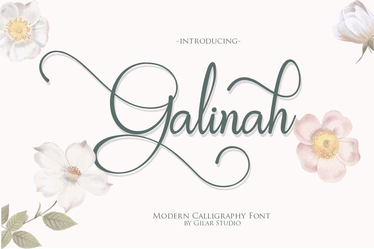 Galinah | Modern Calligraphy Font example image 1