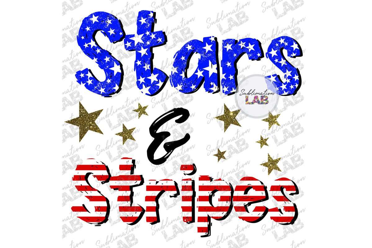 Stars And Stripes 4th of July Patriotic Sublimation Design example image 1