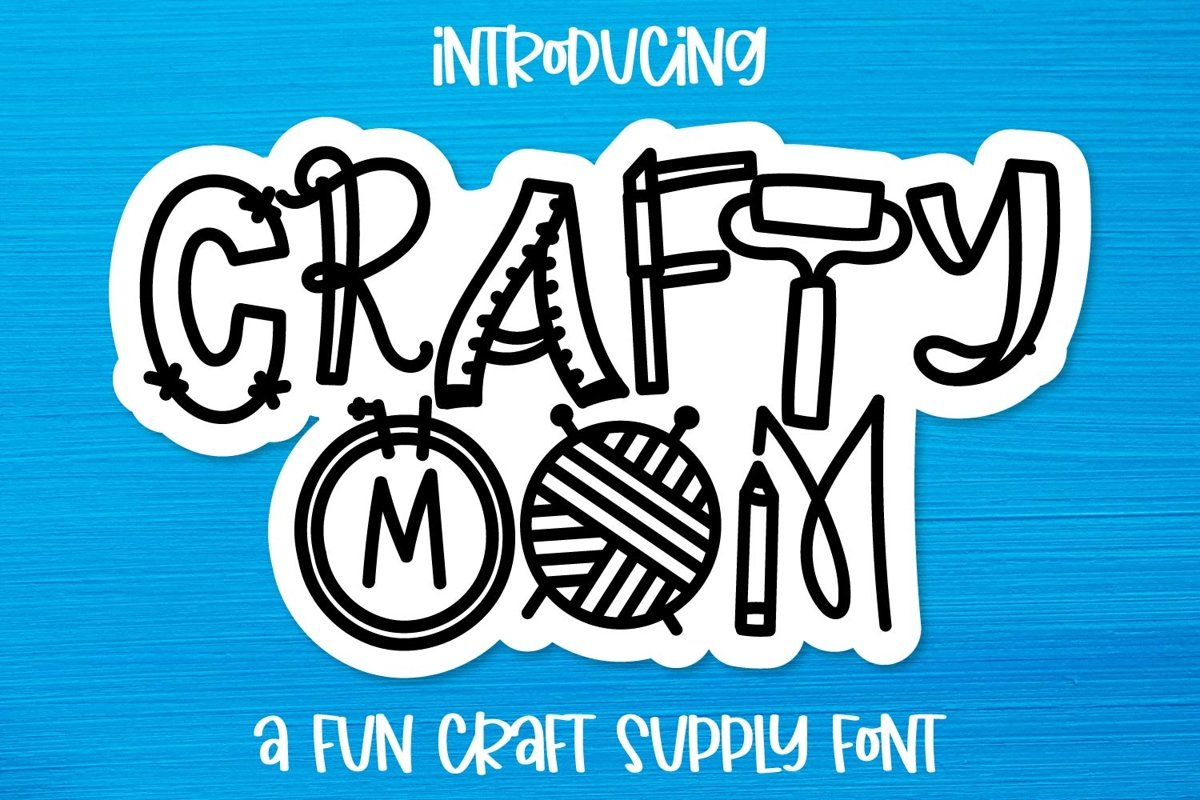 Crafty Mom - A Fun Craft Supply Font example image 1