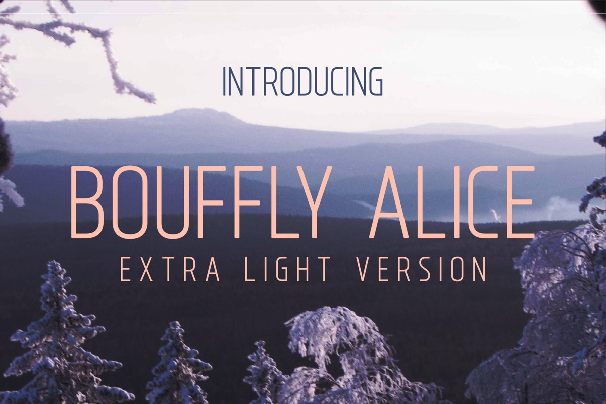 Bouffly Alice Extra LightVersionl Elegant font sans serif example image 1
