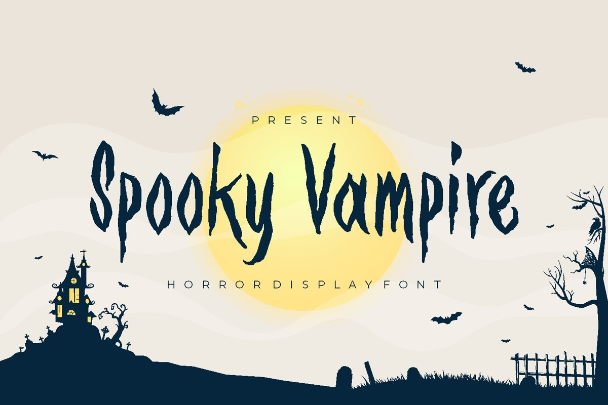 Spooky Vampire Font example image 1