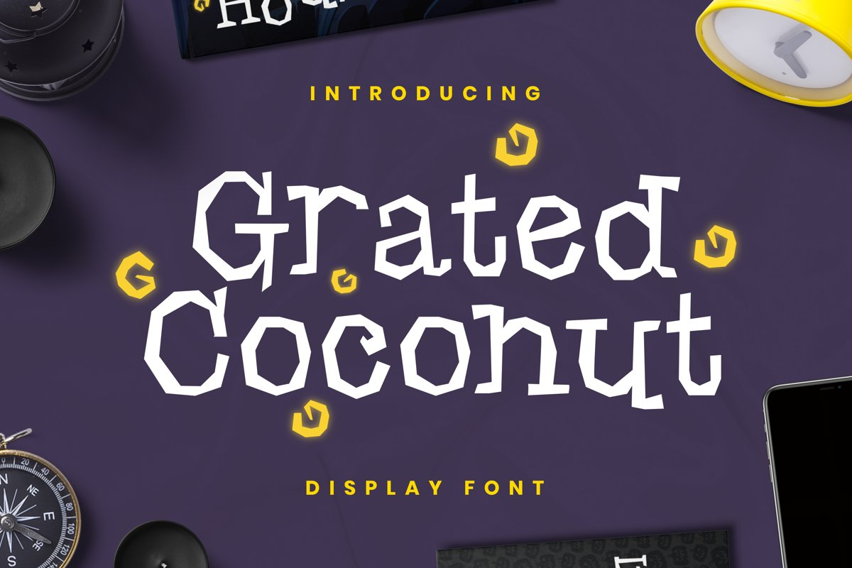 Grated Coconut Font example image 1