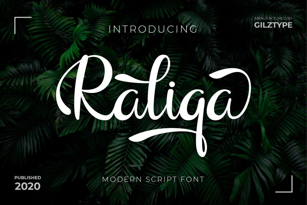 Raliqa - Modern Script Font example image 1