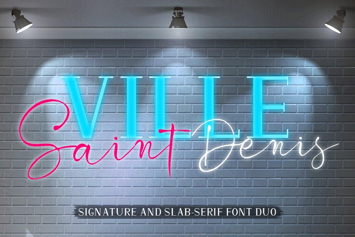 Ville Saint Denis - Font DUO example image 1