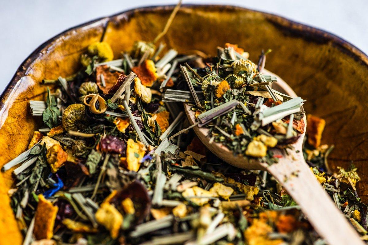 Tea varieties on stone background example image 1
