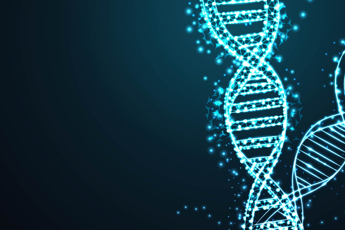 Science template for your design. Futuristic DNA concept str example image 1