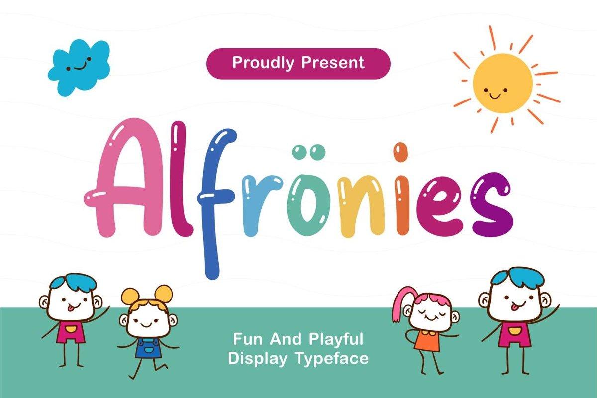 Alfrönies - Fun and Playful Display Typeface example image 1