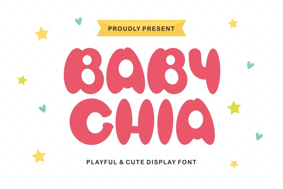 Baby Chia - Playful & Cute Display Font example image 1