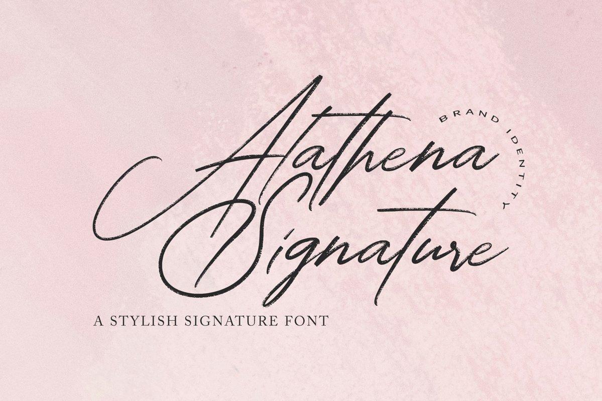 Alathena Signature Font example image 1