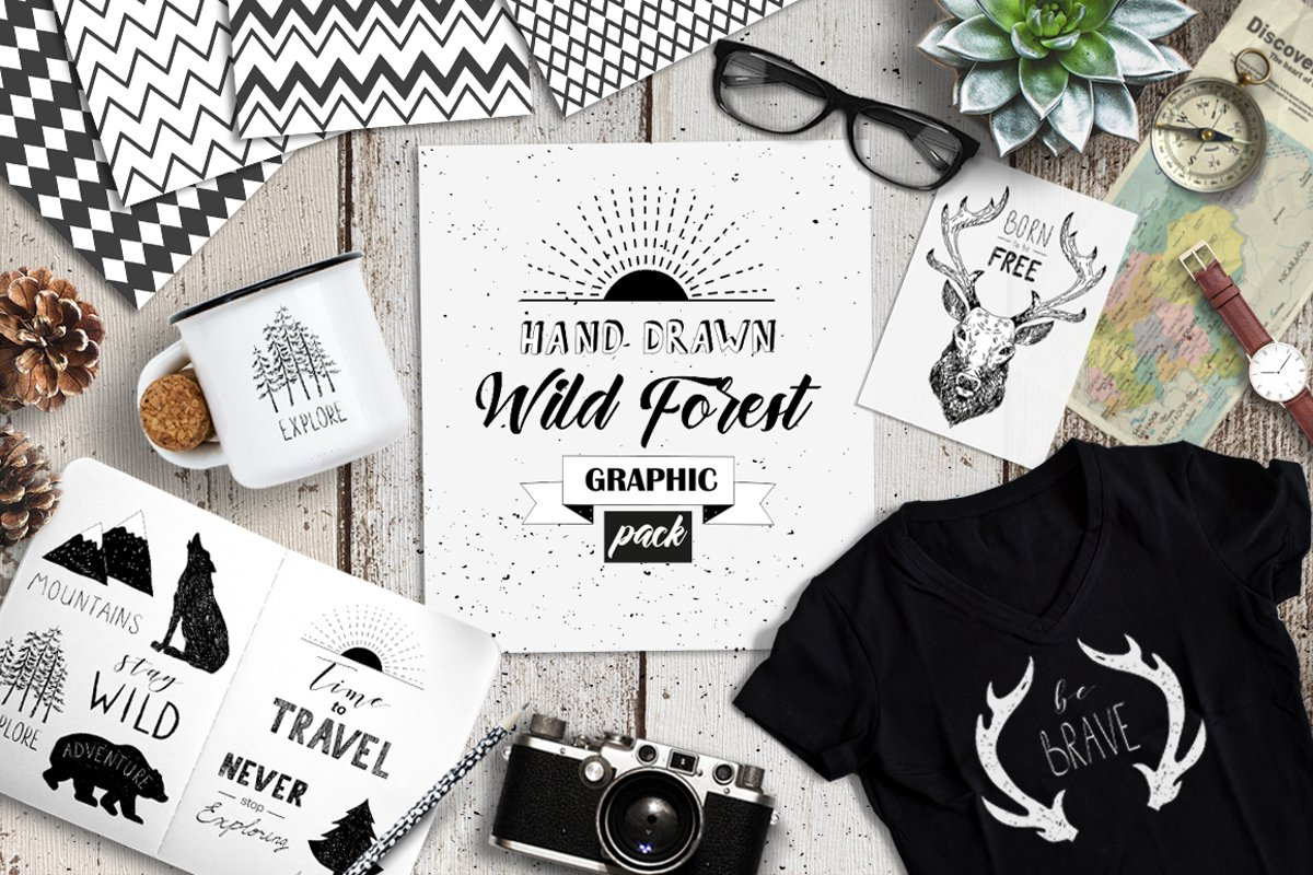 Wild Forest graphic pack example image 1