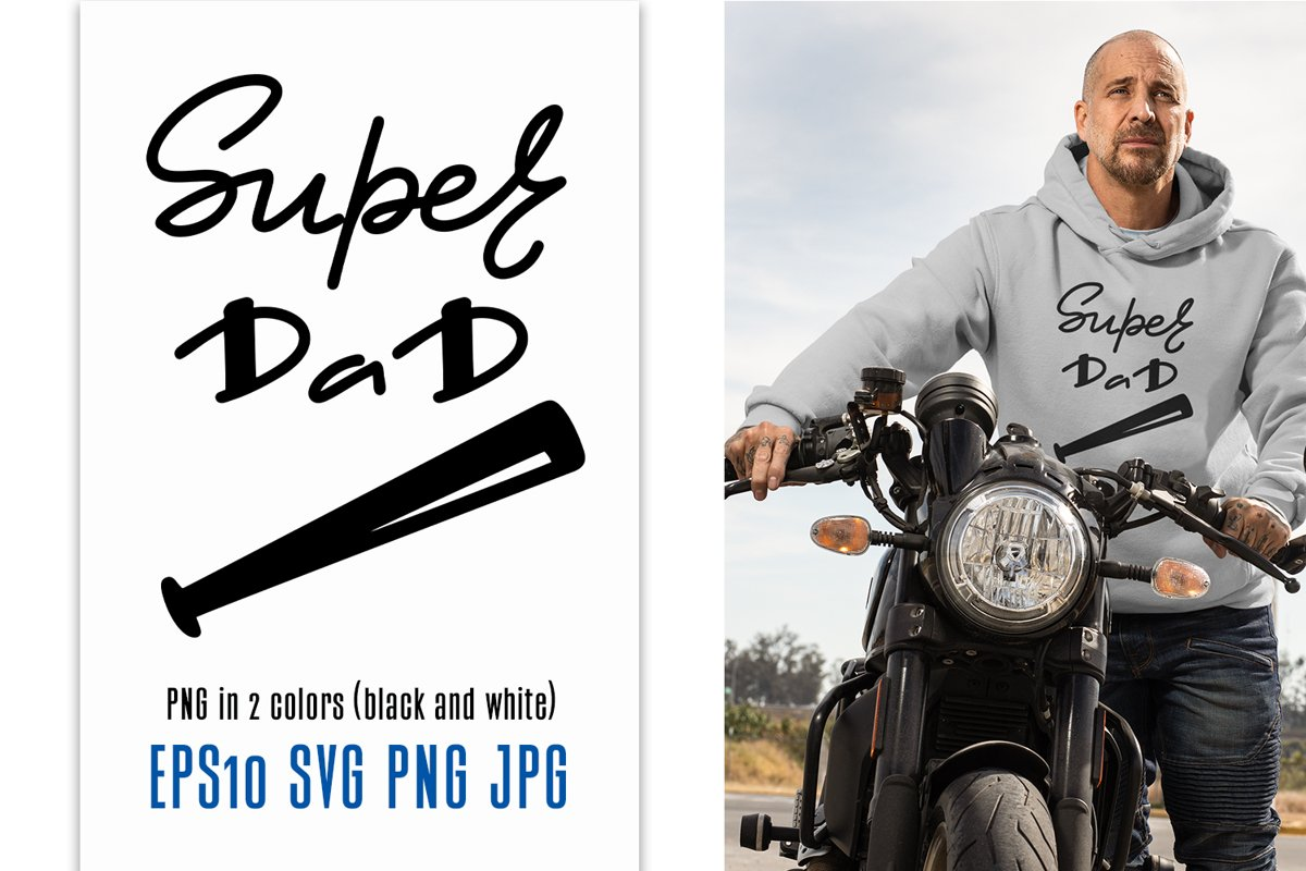 Happy Father's Day. Super Dad quote. example image 1